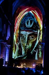 AniMotion Show Catedral St Giles tecnologia Panasonic