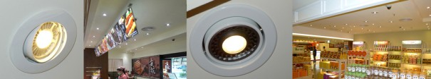 Area de servicio Gukeng iluminada por los LED de GlacialLight