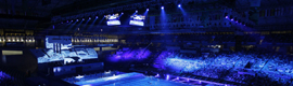 Christie technology turned the opening ceremony of the World Swimming Championships 2013 in a large audiovisual show
