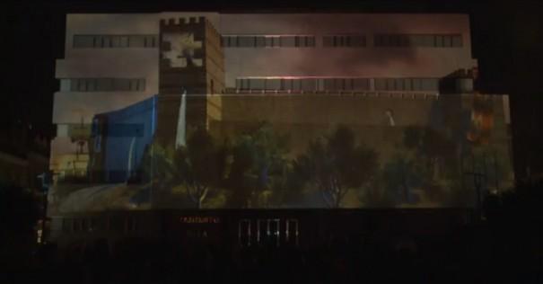 Videomapping de Acciona en Ayuntamiento Fuengirola