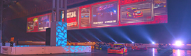 XL Video provides visual equipment for large projection made at the Autosport International 2014