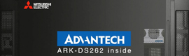 Advantech and Mitsubishi carried out a demonstration of a digital signage solution OPS in ISE 2014