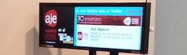 Alzinia aporta su cartelería digital LiquidImages a la Asociación de Jóvenes Empresarios de Madrid