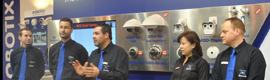 SICUR 2014, the bet of Mobotix come with its own stand to present its wide range of video surveillance in 5MP