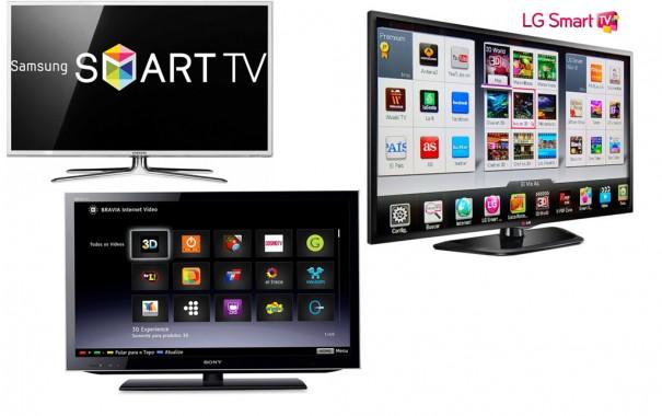 Samsun LG Sony lideran Samrt TV