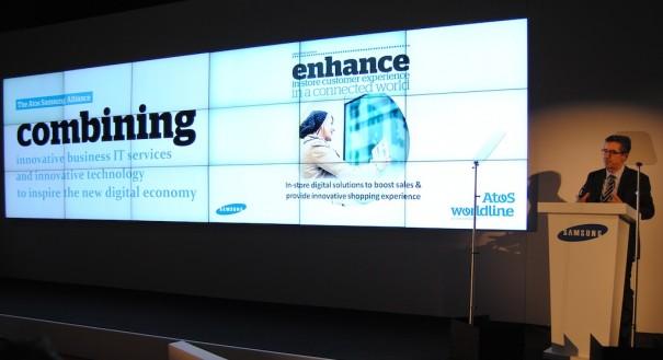 Giller Grapinet, Deputy CEO en Atos, da a conocer su alianza con Samsung en ISE 2014