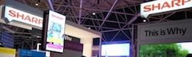 ISE 2014: Sharp y sus partners muestran soluciones integradas de digital signage para mercados verticales