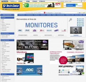 Tech Data microsite monitores