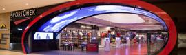 Sport Check ofrece un nuevo concepto de tienda de deportes con el digital signage como elemento clave del diseño