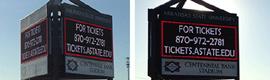 La Arkansas State University instala una solución de digital signage de triple cara de Daktronics