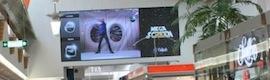 El centro L´Aljub en Elche instala la pantalla LED interactiva 'Megascreen', la más grande en una gran superficie en España