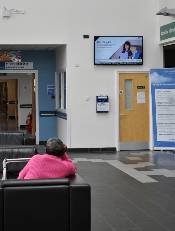 SSSP con Signagelive en hospitales NHS