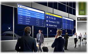 Samsung pantalla aeropuerto