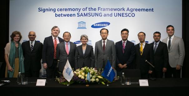 Samsung y Unesco firman una alianza en formacion