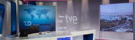 El plató de los servicios informativos de TVE se renueva y se instala un gran videowall 4K como elemento central