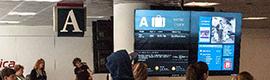 El aeropuerto Logan de Boston informa a los pasajeros sobre su equipaje con digital signage
