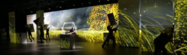 Mercedes Benz made the launch of the V-Class minivan creating a spectacular multimedia experience