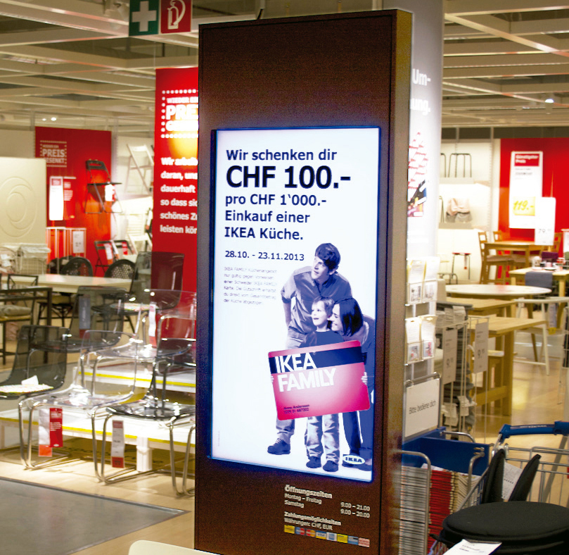 Switzerland ikea deploys a network based digital signage ssp samsung and scala
