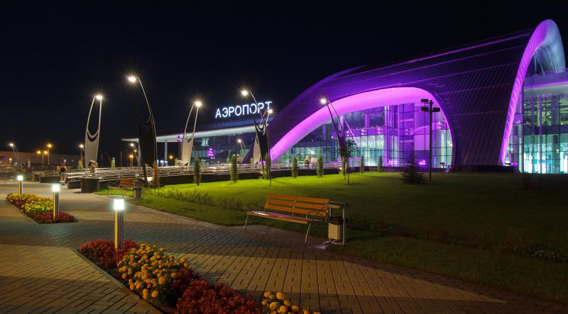 Harman Projectors Create A Simulation Of Light And Colour In Russian  Belgorod Airport