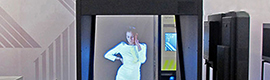 The holographic Paraddax Holoman 150 Exhibitor allows the representation of a virtual person in actual size