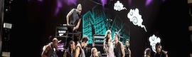 La brasileña Anitta ilumina la grabación de su primer DVD con sistemas de Robe