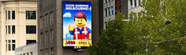 Australia promociona el film 'The Lego Movie' utilizando la cartelería digital de gran formato