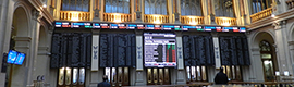 The Madrid Stock Exchange installs digital signage with Telefónica, Wavetec and InfoBolsa solution