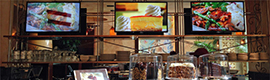 The restaurant chain Cheesecake Factory adds flavor to your menus with digital signage