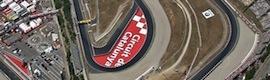 Sharp aporta su tecnología de visualización para los grandes premios de Fórmula 1 y MotoGP en el Circuito de Cataluña