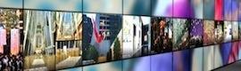 Videowall de ultra alta resolución para mostrar la trayectoria empresarial a clientes y visitantes