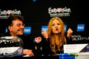 Microfono DPA en sala prensa Eurovision