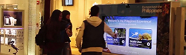 Philippines promotes his country as a tourist destination through a traveling interactive kiosk