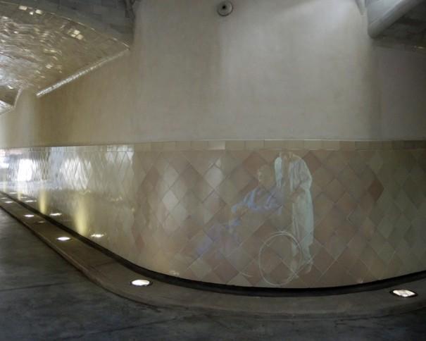 Sono Recinto Modernista Sant Pau proyeccion pasillo