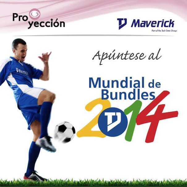 Tech Data Maverick campana Mundial Futbol Brasil