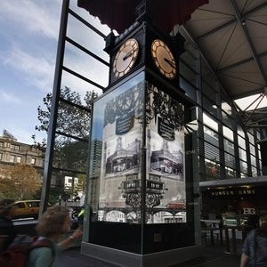 JCDecaux Water Tower Clock Melbourne