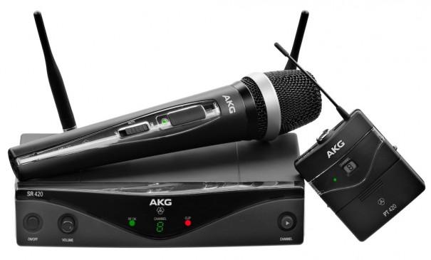 Neotecnica AKG WMS 420 transmisores mano y petaca