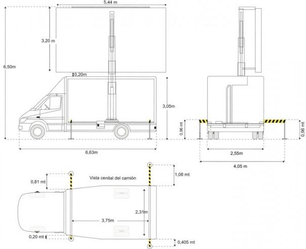 Stero Rent medidas camion pantalla