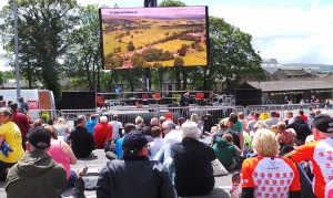 Big TV en Skipton Tour de Francia 2014