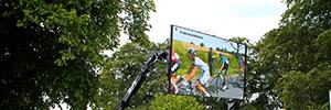 El Tour de Francia 2014 fue seguido en directo desde pantallas LED dotadas con la tecnología de Calibre