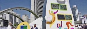 Cisco y su tecnología IoE inauguran el reloj interactivo para los Juegos Panamericanos Toronto 2015