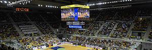 Daktronics instala en el Gran Canaria Arena uno de los vídeo-marcadores más espectaculares de España