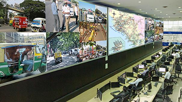 Delta videowall en Centro de Control de Trafico Bangalore (India)
