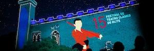 El Festival de teatro clásico de Olite inaugura su XXV edición con la tecnología de videomapping