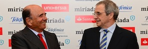 Telefonica and Banco Santander have MíriadaX, online education platform in the Hispanic world