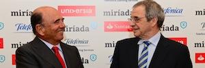 Telefónica y Banco Santander presentan MíriadaX, la plataforma de educación online del mundo hispano