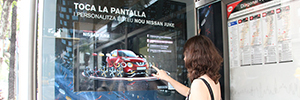 Nissan Juke promotes its new crossover in canopies and öppis interactive of Barcelona