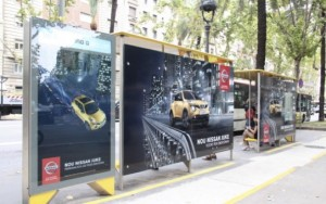 OMD publicidad outdoor Nissan Barcelona