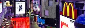 Tecnología Philips LED Color Kinetics para pasear por la neoyorquina Times Square en pleno centro de Moscú