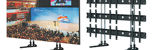Unicol Free Standing Simplex, robust support for videowall integrated by screens of up to 55 ""
