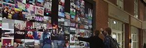 Un gran videowall de Christie, con tecnología Kinect, da la bienvenida en la biblioteca Jerry Falwell